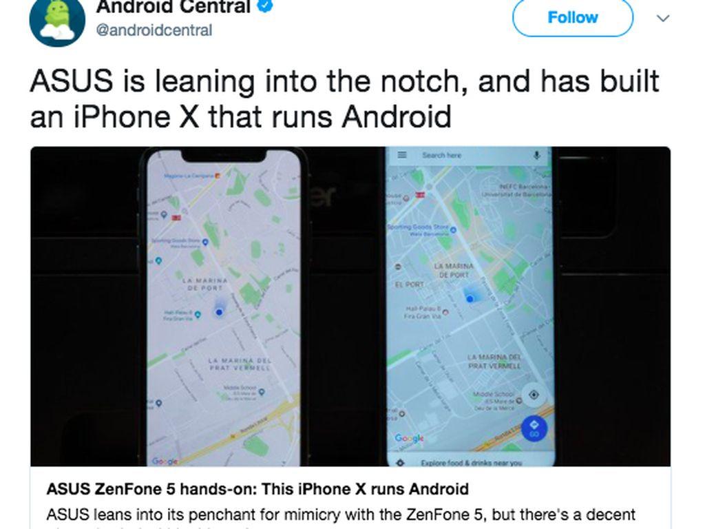 Pembahasan Kocak Zenfone 5 Kloning iPhone X di Medsos