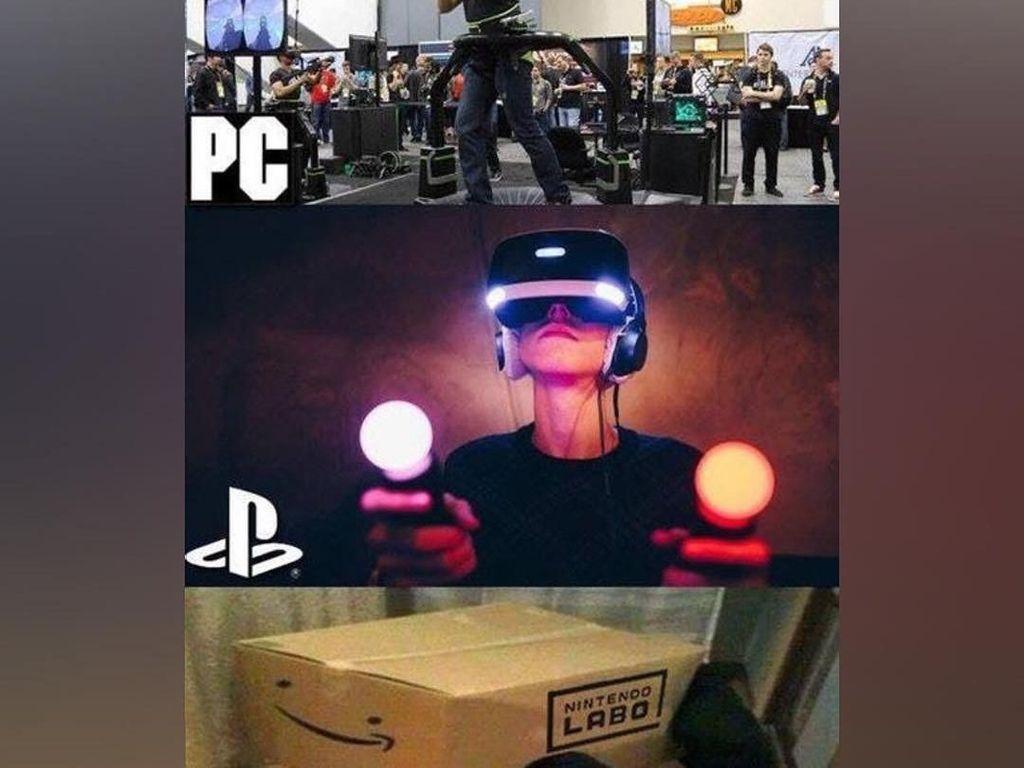 Meme Lucu Perdebatan Main Game di PC dan Konsol
