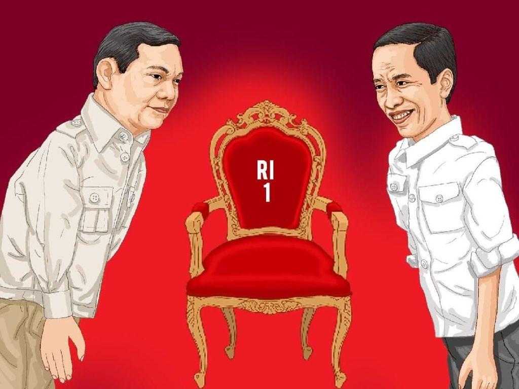 Foto: Deklarasi Jokowi-Maruf Amin vs Prabowo-Sandiaga