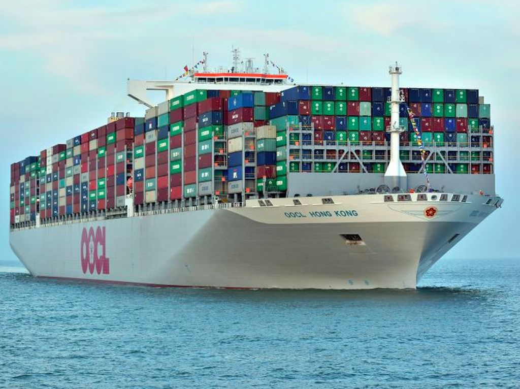 Menengok Kapal Kontainer Terbesar Dunia Buatan Samsung