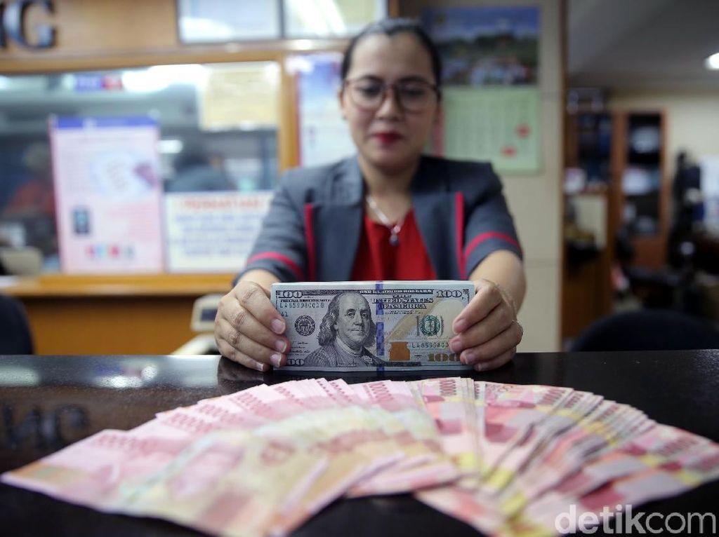 Dolar AS Rontok ke Rp 14.123