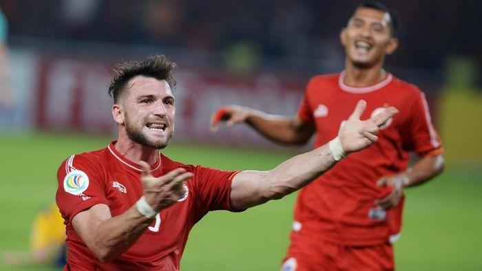 Marko Simic akan absen ketika Persija Jakarta berhadapan dengan Persebaya Surabaya dalam lanjutan Liga 1 2018 (Foto: Akbar Nugroho Gumay/Antara Foto)
