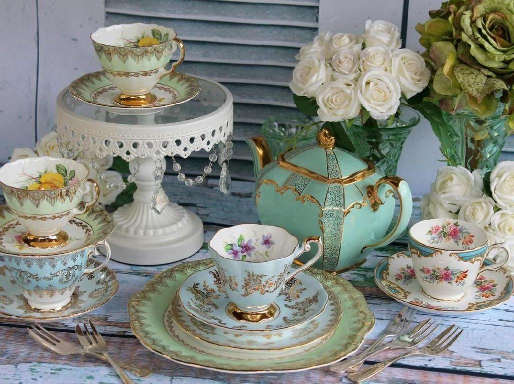 10 Tea Set Bertema Shabby Chic Ini Bikin Ngeteh Makin Nikmat