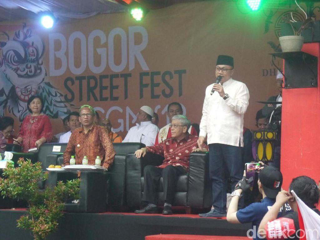 Di Acara Cap Go Meh Bogor, Ketua MPR: Indonesia Bangsa yang Toleran