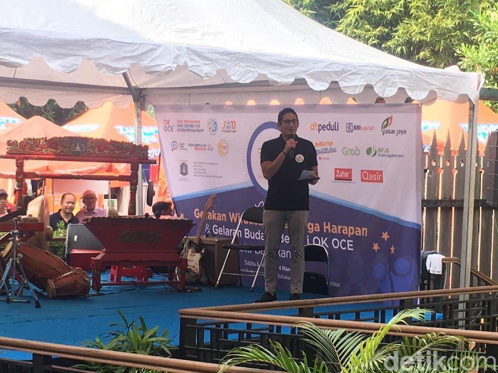 Sandi Buka Gerakan Wirausaha Harapan di Kampung Betawi Setu Babakan
