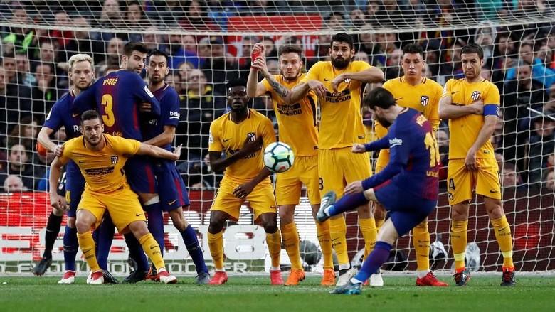 Tendangan Bebas Messi Bawa Barcelona Ungguli Atletico