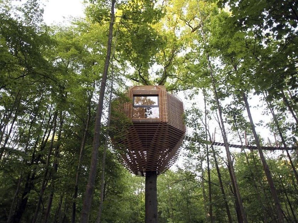 Rumah Pohon Keren di Tengah Hutan Prancis, Mau ke Sini?