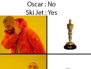 Mungkin ini yang diharapkan para nominasi, seperti pidatonya Sam Rockwell yang salah sebut Ski Jet.(Dok. Ist)
