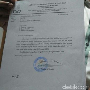 UIN Yogya: Dibina tetap bergeming, Mahasiswi Bercadar Diminta Mundur