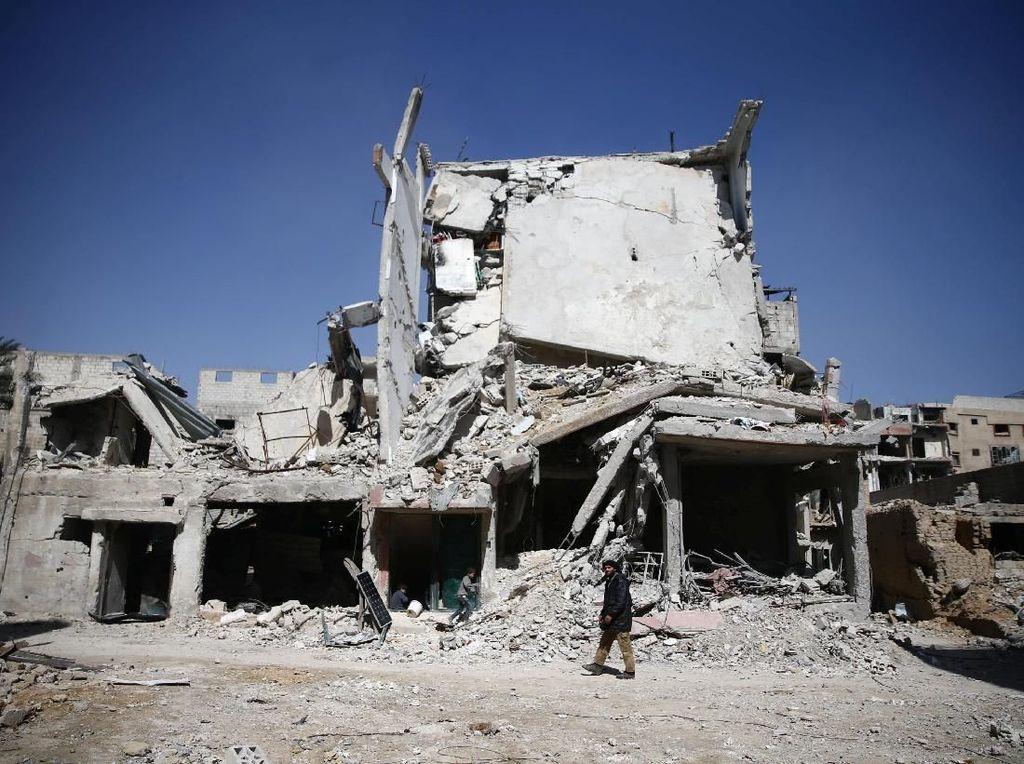Dibom Rezim Pemerintah, Begini Kondisi Ghouta Timur