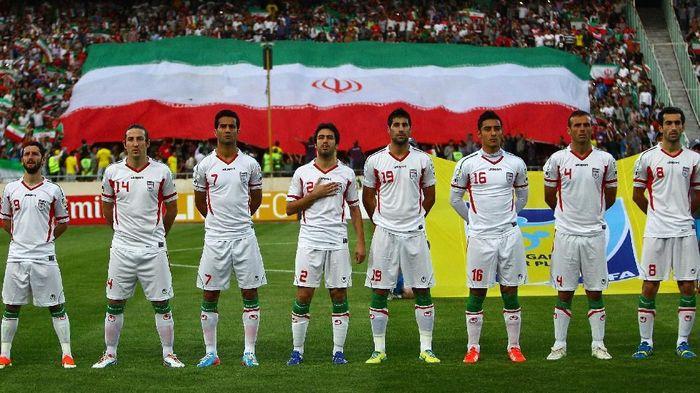 Foto skuat timnas Iran. (Foto: Amin M. Jamali/Getty Images)