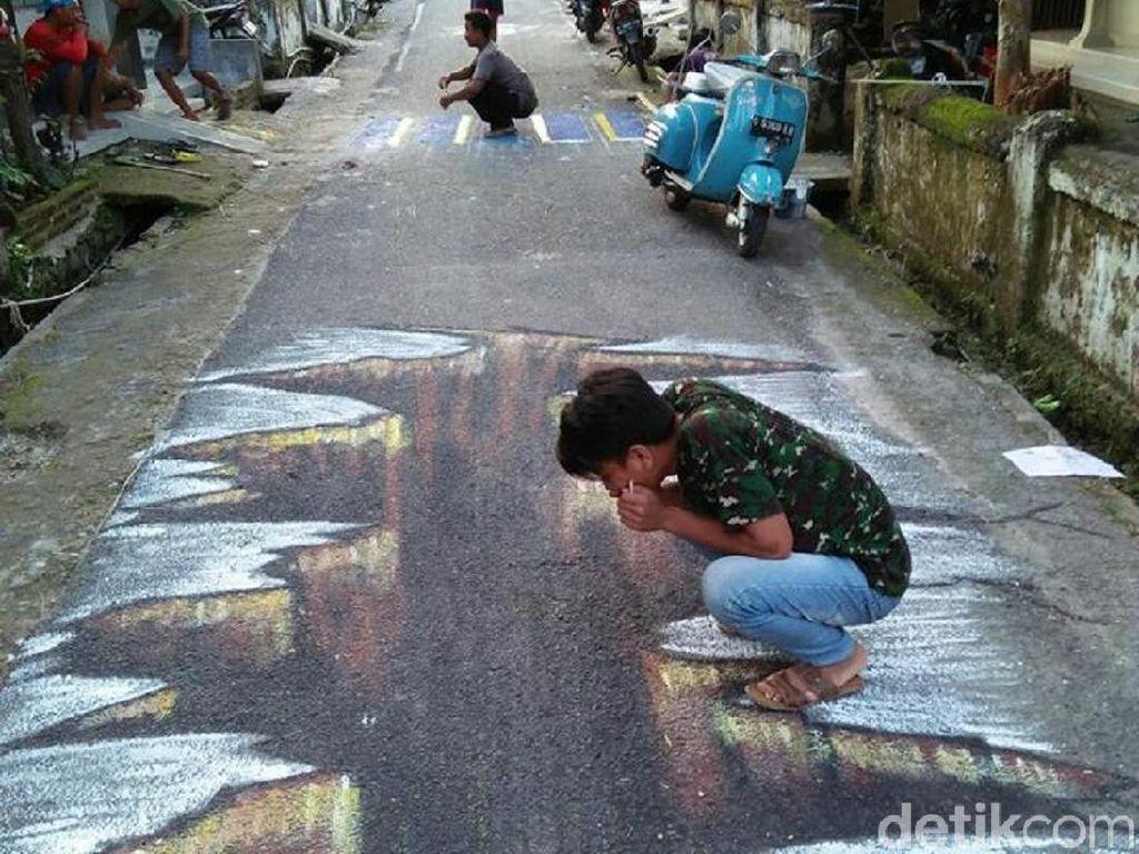 Video Keren! Jalanan 3 Dimensi di Rembang