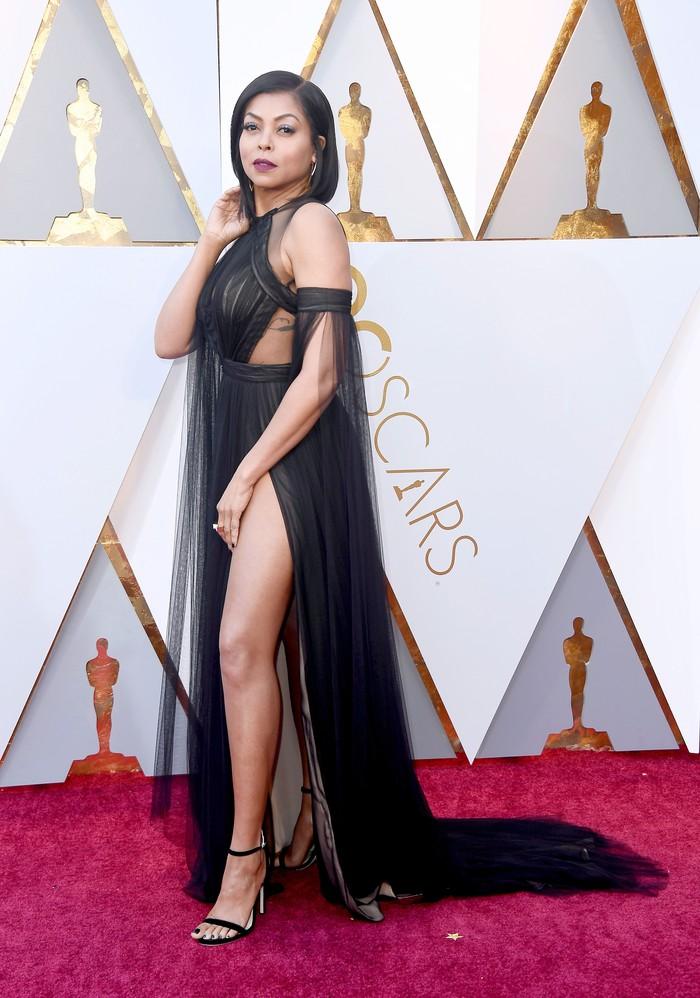 Taraji P.Henson tampil sangat seksi saat tampil di acara yang digelar di Hollywood, California, AS pada Minggu (4/3).Frazer Harrison/Getty Images.