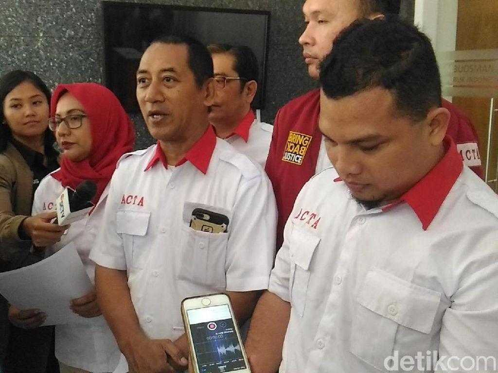 Datangi Ombudsman, ACTA Laporkan Pertemuan PSI-Jokowi di Istana