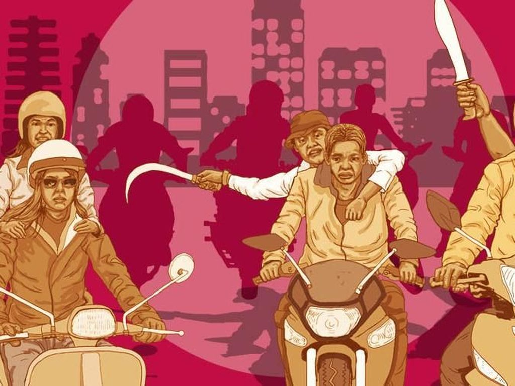 Polisi Telusuri Geng Motor Bawa Sajam yang Berkeliaran di Jakarta Barat