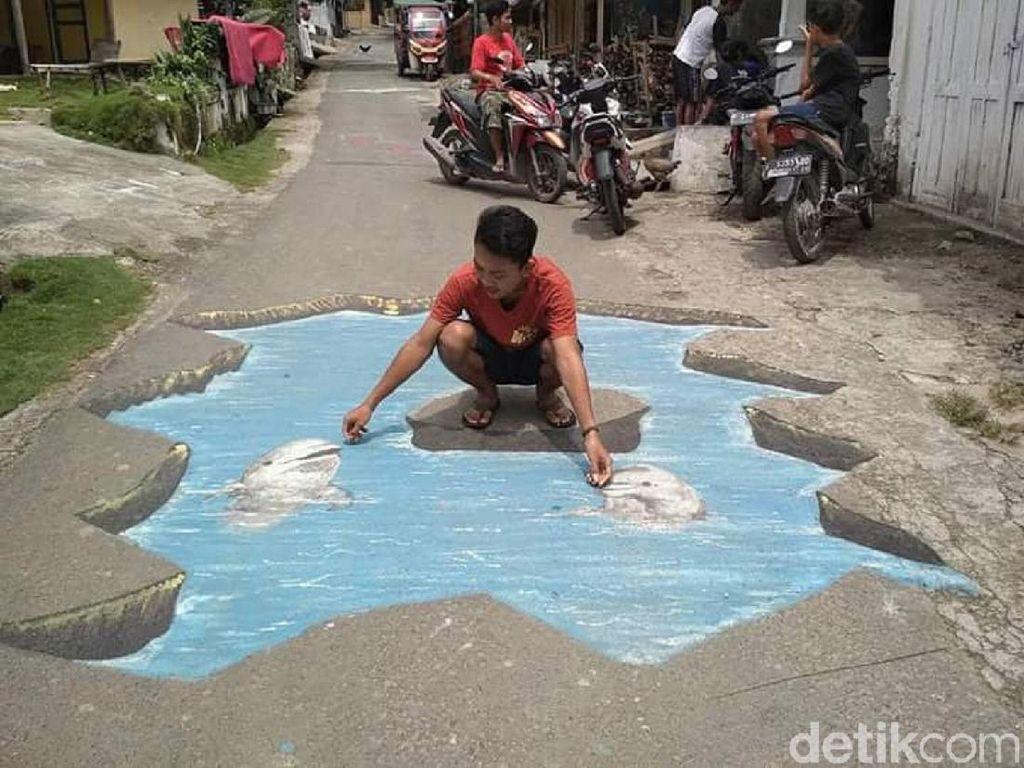 Foto: Bermain di Kampung 3 Dimensi Rembang
