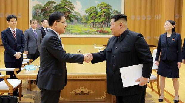 Hubungan Korsel dan Korut membaik setelah Olimpiade Pyeongchang.