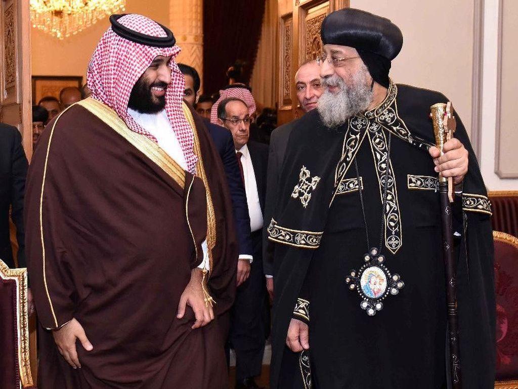 Foto: Putra Mahkota Saudi Temui Imam Besar Al-Azhar dan Kepala Gereja