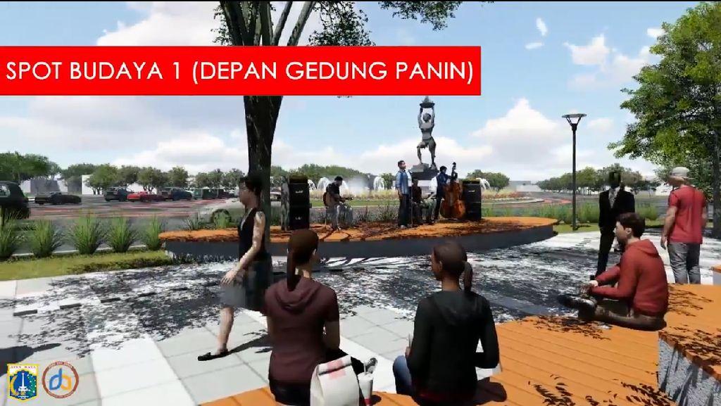 Konsep Spot Budaya-Walk of Fame di Trotoar yang Digagas Anies