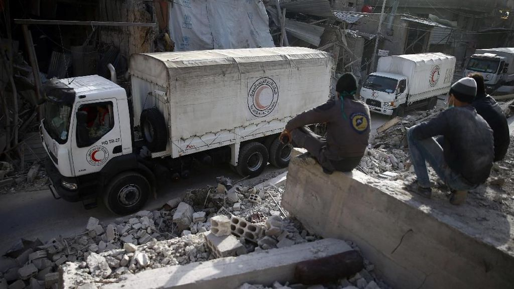 Bulan Sabit Merah Masuki Ghouta Timur