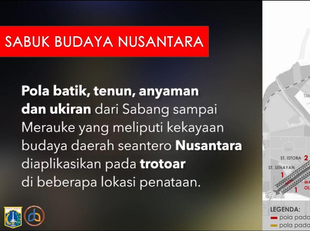 Foto: Motif Batik Nusantara yang Akan Hiasi Trotoar Sudirman-Thamrin