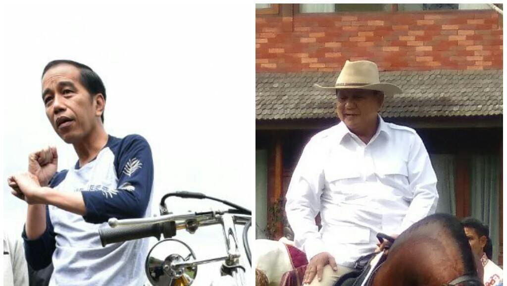 Foto: Ketika Jokowi Ngoweeeng dan Prabowo Berkuda