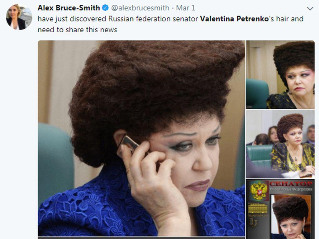 Politikus Wanita Rusia Jadi Viral karena Gaya Rambutnya yang Unik dan Lucu