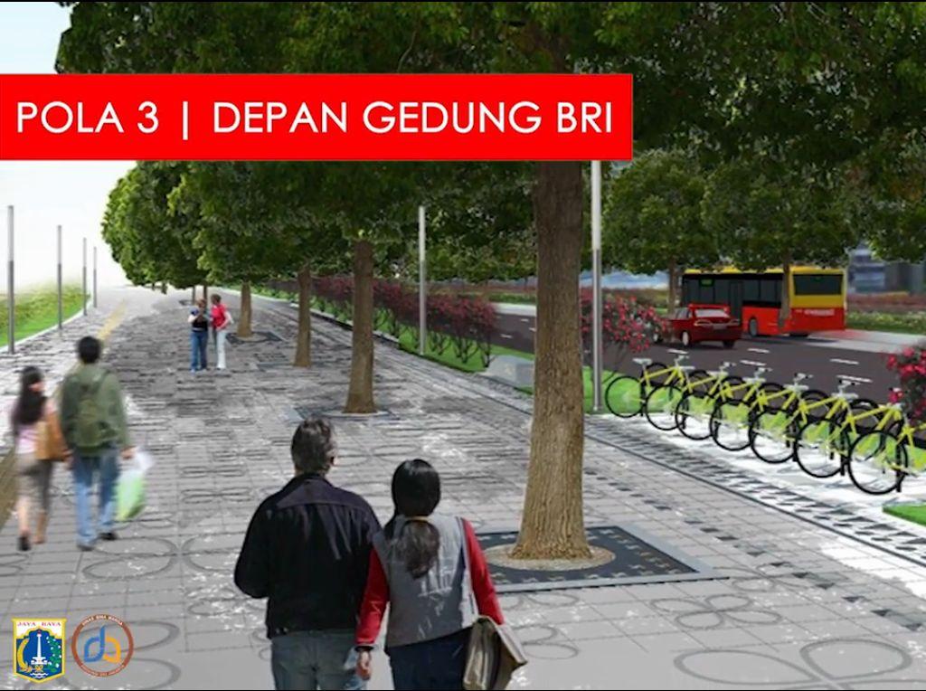 Desain Wajah Baru Trotoar Sudirman-Thamrin Gagasan Anies