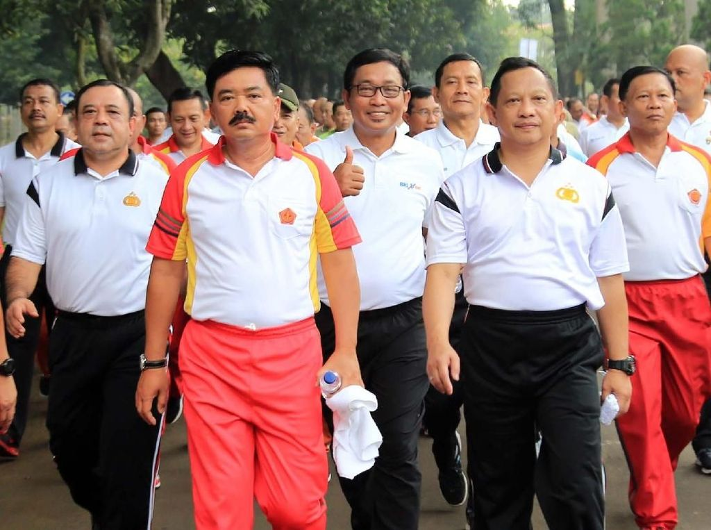 Panglima TNI dan Kapolri Jalan Sehat Bersama