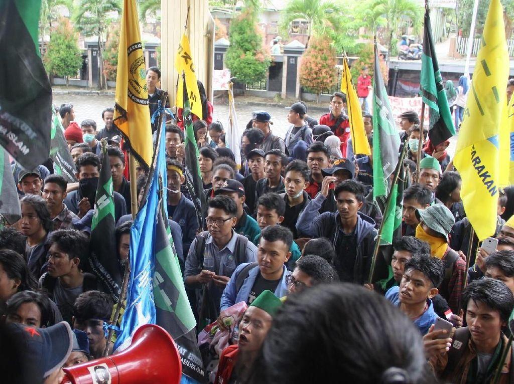 Tolak UU MD3 dan RKUHP, Demo Mahasiswa di Kalimantan Utara Ricuh