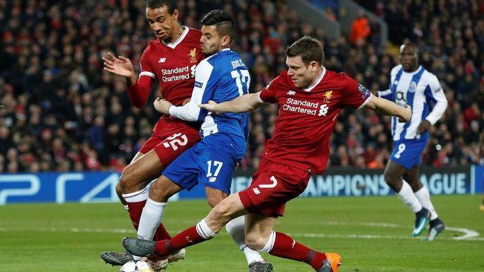 Duel Liverpool dan Porto musim lalu di babak 16 besar Liga Champions (Andrew Yates/ REUTERS)