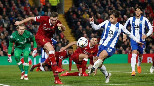 Liverpool cetak 13 gol saat bermain tandang di Portugal.