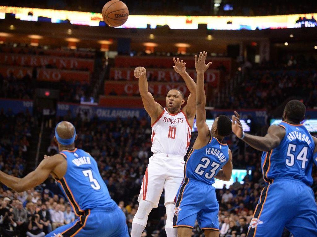 Gebuk Thunder, Rockets Catatkan Rekor Kemenangan