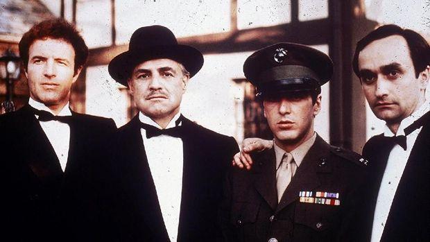 Salah satu potret para aktor di film 'The Godfather' tahun 1972