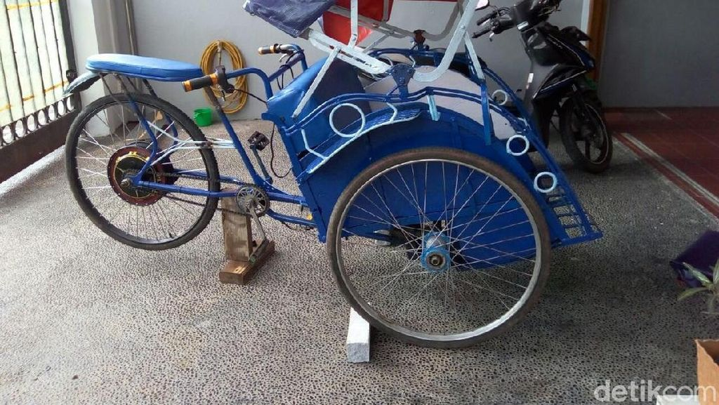 Foto: Becak Listrik Rp 20 Juta-an yang Disumbang PAN ke DKI