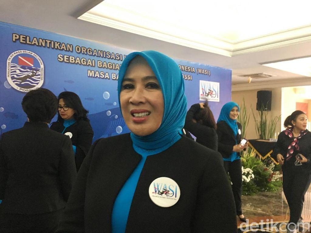 Istri Kapolri Dilantik Jadi Ketua Wanita Selam Indonesia