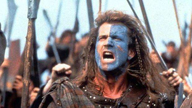 Salah satu adegan Mel Gibson di film 'Braveheart' tahun 1995