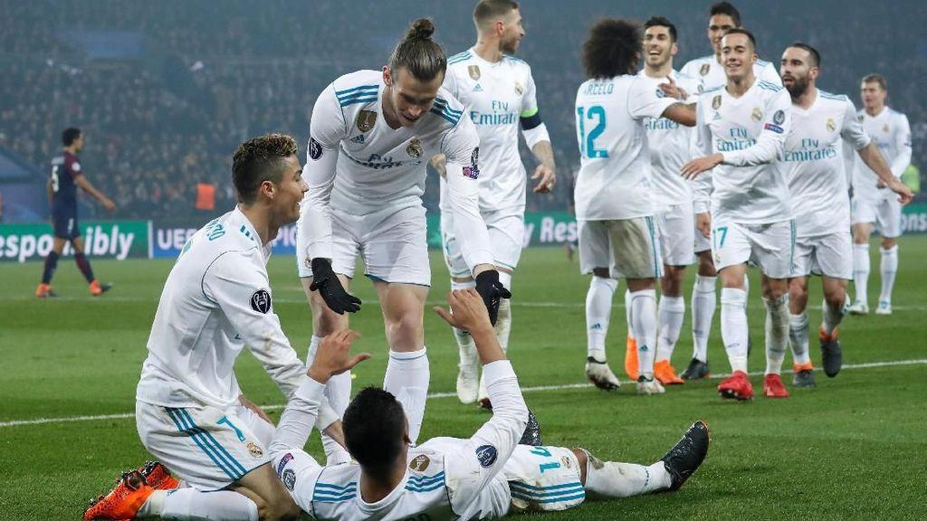 Foto: Madrid Depak PSG dari Liga Champions