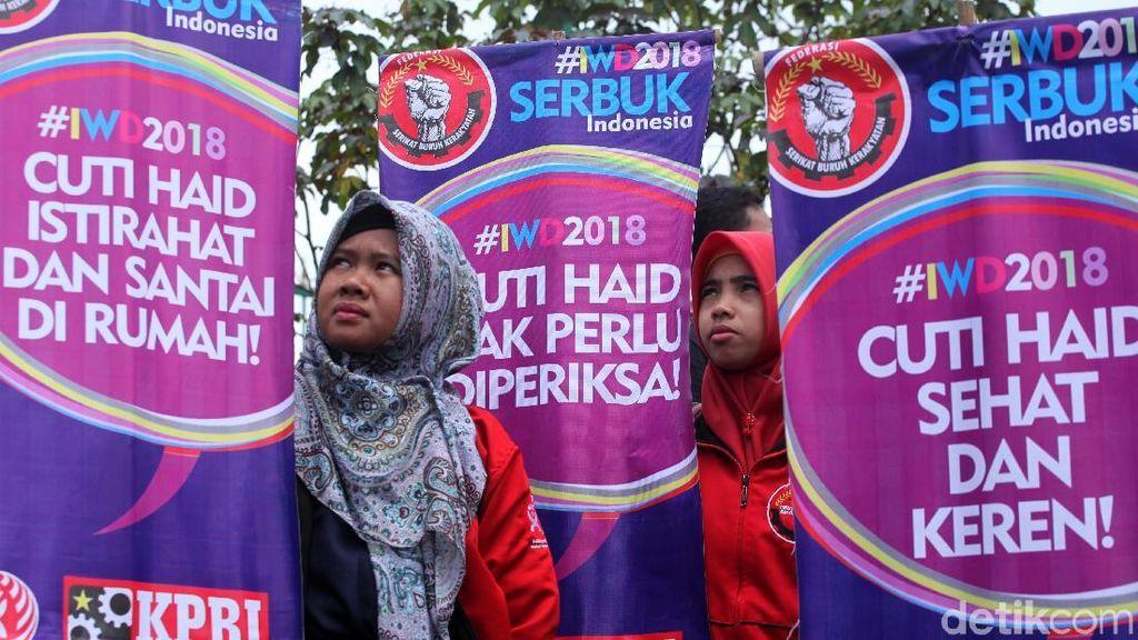 Demo di DPR, Massa Tuntut Kesetaraan dan Tolak Diskriminasi Perempuan
