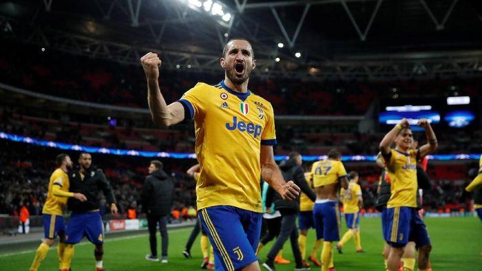 Giorgio Chiellini menyebut Juventus ingin memenangi semua gelar. (Foto: Eddie Keogh/Reuters)