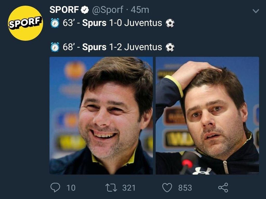 Meme Penambah Luka Hati Spurs Usai Didepak Juventus