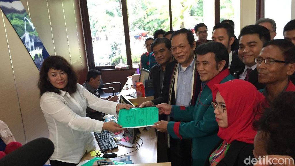 Foto: Rhoma Irama Daftarkan Banding Partai Idaman ke PTUN