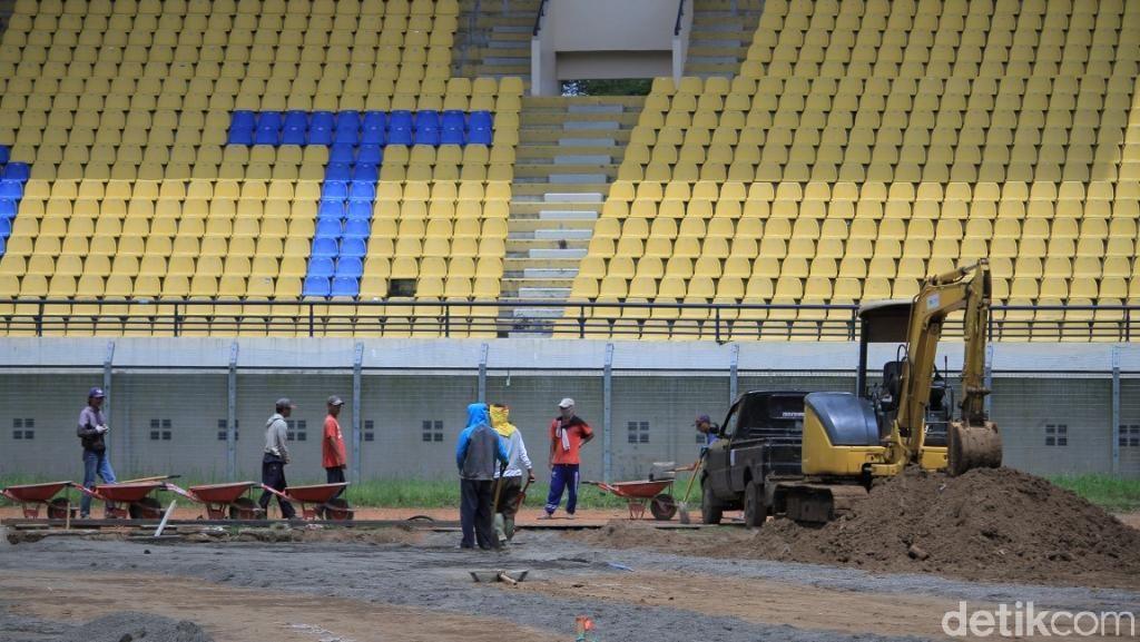 Ini Perkembangan Terbaru Proses Renovasi Stadion Si Jalak Harupat