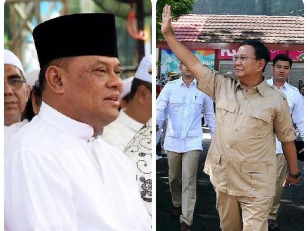 Prabowo: Gatot Junior Saya, Sering Ketemu Saya