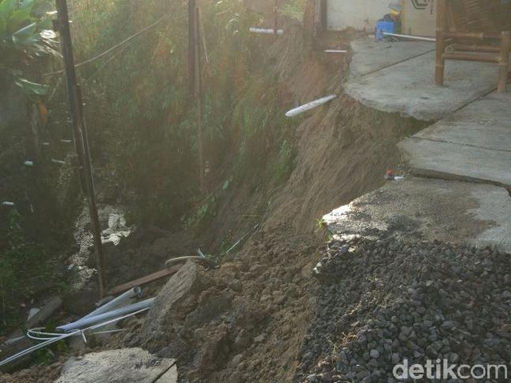 Talut Sungai di Mojosongo Solo Ambrol, 2 Rumah Warga Terancam