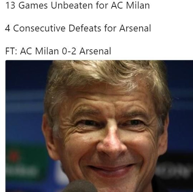 Meme-meme Lucu Usai Laga AC Milan vs Arsenal