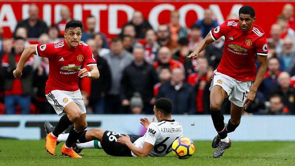Dua Gol Rashford Bikin Liverpool Bertekuk Lutut di Old Trafford