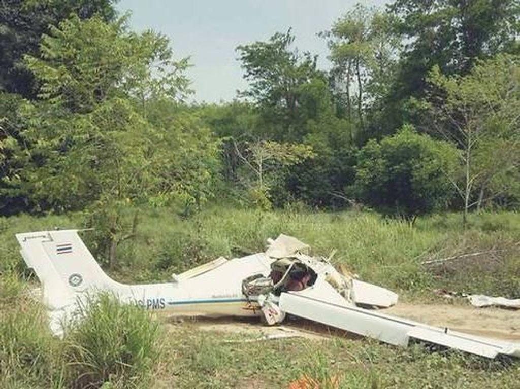 Penampakan Pesawat Latih yang Jatuh di Phuket dan Tewaskan 2 Orang