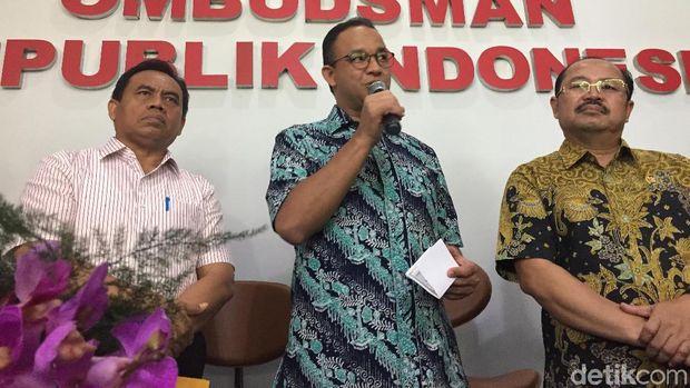 Anies saat meresmikan Ombudsman RI perwakilan Jakarta Raya, 10 Maret lalu.