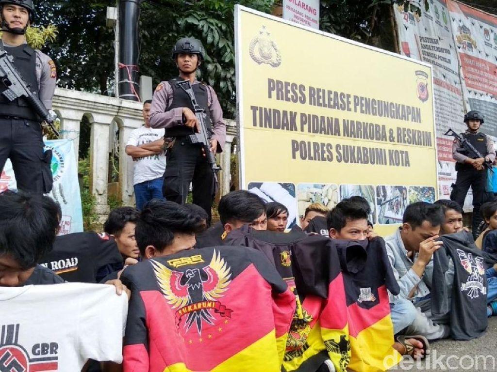 Polresta Sukabumi Kembali Pajang Pelaku Kriminal di Area Publik